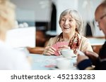 gathering in cafe | Shutterstock . vector #452133283