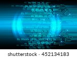 blue abstract cyber future... | Shutterstock .eps vector #452134183