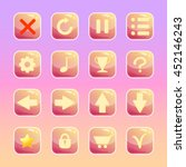 set of candy icons on sweet...