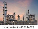 oil industry refinery factory...   Shutterstock . vector #452146627