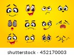 vector icons of smiley faces | Shutterstock .eps vector #452170003