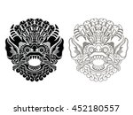 mythological god's masks....