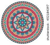 flower mandala. vintage... | Shutterstock .eps vector #452184397