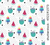 seamless summer pattern. vector ... | Shutterstock .eps vector #452191573