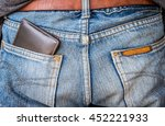 Brown Leather Wallet In Jeans...