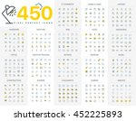 pixel perfect icon pack for... | Shutterstock .eps vector #452225893