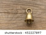 small gold bells are handmade... | Shutterstock . vector #452227897