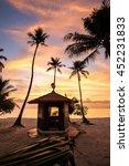 little hut on the beach | Shutterstock . vector #452231833
