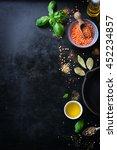 food frame  background or... | Shutterstock . vector #452234857