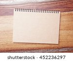blank brown spiral bound book... | Shutterstock . vector #452236297