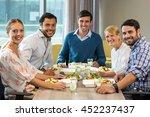 portrait of business people... | Shutterstock . vector #452237437
