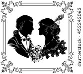 beautiful couple in love....   Shutterstock .eps vector #452242063