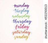 days of week hand drawn vector... | Shutterstock .eps vector #452250013