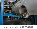 disc brake on car  in process... | Shutterstock . vector #452254207