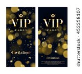 vip party premium invitation... | Shutterstock .eps vector #452258107