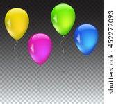 set of balloons various...   Shutterstock .eps vector #452272093
