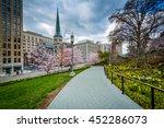 gardens along a walkway at the... | Shutterstock . vector #452286073