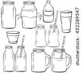 glass bottles sketches set for... | Shutterstock .eps vector #452289547