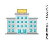 school building. school... | Shutterstock .eps vector #452298973