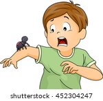 illustration of a little boy... | Shutterstock .eps vector #452304247