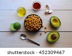 ingredients for cooking...   Shutterstock . vector #452309467