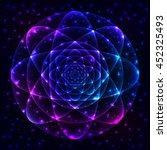 sacred geometry symbol. mandala ... | Shutterstock .eps vector #452325493