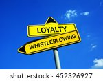 loyalty or whistleblowing  ...   Shutterstock . vector #452326927