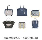 set of woman's bags. gray and... | Shutterstock .eps vector #452328853