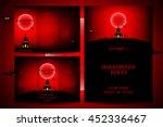 set of flyers for halloween.... | Shutterstock .eps vector #452336467