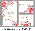 romantic invitation. wedding ... | Shutterstock .eps vector #452348293