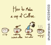 easy way to make a cup of... | Shutterstock .eps vector #452354533