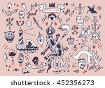 big vector set of hand drawn... | Shutterstock .eps vector #452356273