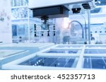 production of solar panels ... | Shutterstock . vector #452357713