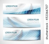 abstract header blue wave white ... | Shutterstock .eps vector #452366707