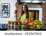 fitness food. healthy eating... | Shutterstock . vector #452367043
