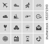 shipping icon set | Shutterstock .eps vector #452371543