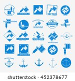 25 different tattoo icons set... | Shutterstock .eps vector #452378677