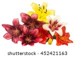 beautiful bouquet of lily... | Shutterstock . vector #452421163