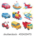 set of transport icons isolated ... | Shutterstock .eps vector #452423473