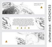 vector. set of hand drawn... | Shutterstock .eps vector #452424253