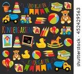 vector pattern for kindergarten ... | Shutterstock .eps vector #452429563