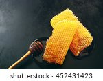 Two Pieces Of Fresh Honeycomb...