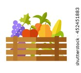 fresh fruits and vegetables at... | Shutterstock .eps vector #452451883