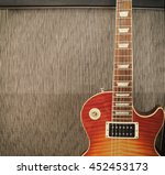 detail close up of a guitar... | Shutterstock . vector #452453173