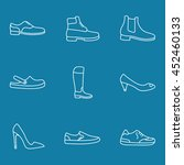 shoes icons set. trendy linear ... | Shutterstock .eps vector #452460133