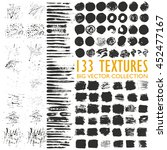 big set of 133 grungy artistic... | Shutterstock .eps vector #452477167