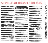 big set of 50 vector grungy... | Shutterstock .eps vector #452477197