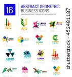 abstract geometric business... | Shutterstock . vector #452481187