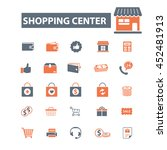shopping center icons | Shutterstock .eps vector #452481913