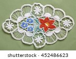handmade lace with colorful... | Shutterstock . vector #452486623